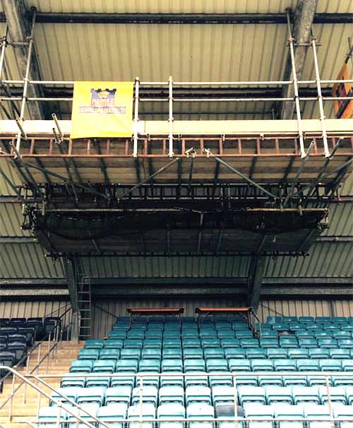 Suspended Gantry for Narbeth Rugby Club