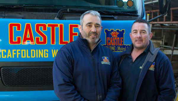 Castle Scaffolding - Jason Evans and Wyn Thomas