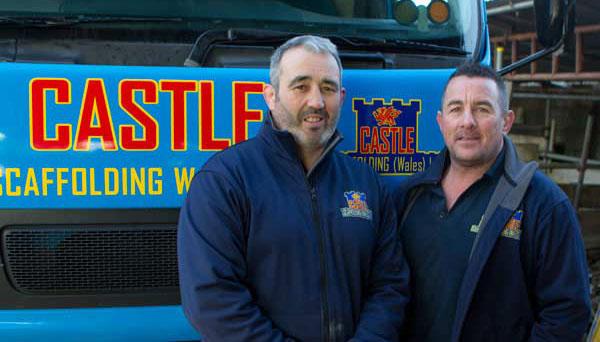 Castle Scaffolding - Jason Evans and Wyn Thomas