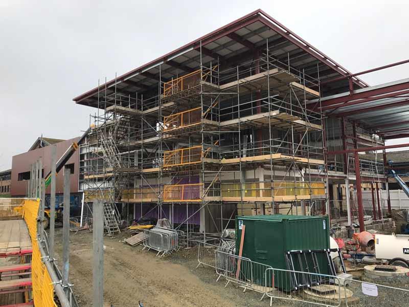 Scaffolding for Morgan Stone and Pembrokeshire College